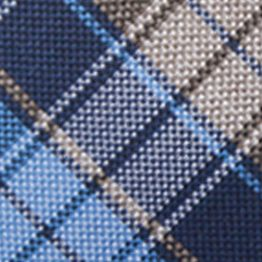 Young Men: Saddlebred Accessories: Blue Saddlebred Men's Ibiza Plaid Tie