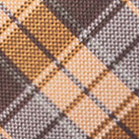 Young Men: Saddlebred Accessories: Brown/Orange Saddlebred Men's Ibiza Plaid Tie