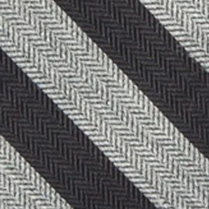 Young Mens Neckties: Charcoal/Black Saddlebred Men's Ionia Stripe Tie