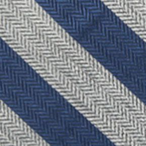 Young Men: Saddlebred Accessories: Charcoal/Blue Saddlebred Men's Ionia Stripe Tie