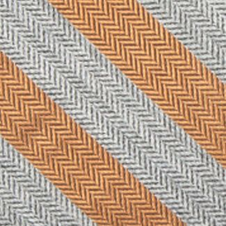 Young Men: Saddlebred Accessories: Charcoal/Yellow Saddlebred Men's Ionia Stripe Tie
