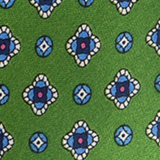 Young Mens Neckties: Green Saddlebred Nice Print Neat Tie