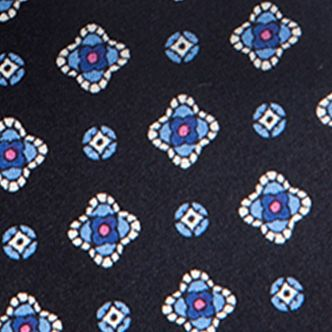 Young Mens Neckties: Navy Saddlebred Nice Print Neat Tie
