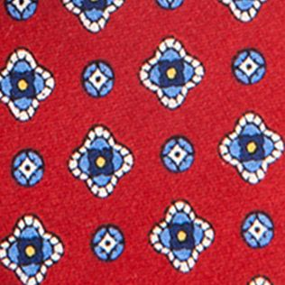 Young Men: Saddlebred Accessories: Red Saddlebred Nice Print Neat Tie
