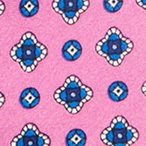 Young Mens Neckties: Pink Saddlebred Nice Print Neat Tie