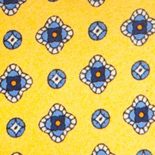 Young Mens Neckties: Yellow Saddlebred Nice Print Neat Tie