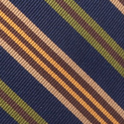 Young Men: Saddlebred Accessories: Navy Saddlebred® Auburn Seasonal Striped Tie