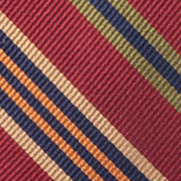 Young Men: Saddlebred Accessories: Burgundy Saddlebred® Auburn Seasonal Striped Tie