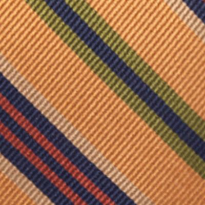 Young Men: Saddlebred Accessories: Gold Saddlebred® Auburn Seasonal Striped Tie