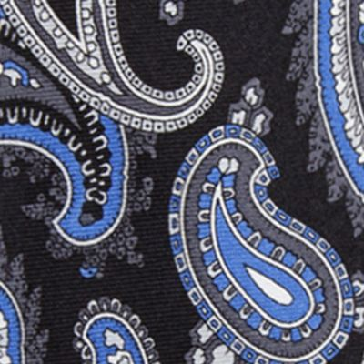 Young Mens Neckties: Black Saddlebred Samoa Paisley Tie