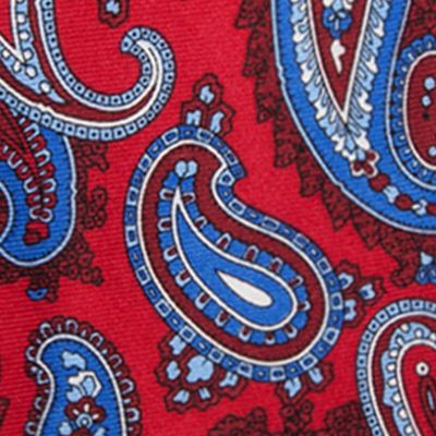Young Mens Neckties: Red Saddlebred Samoa Paisley Tie