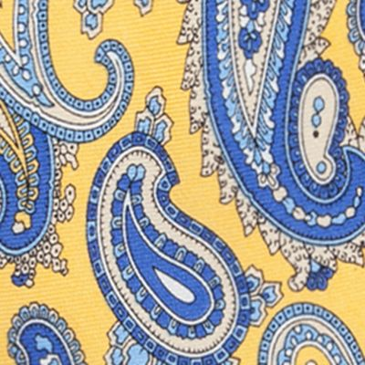 Young Men: Saddlebred Accessories: Yellow Saddlebred Samoa Paisley Tie