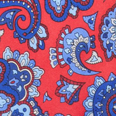 Big and Tall Ties: Red Saddlebred Extra Long Anderson Paisley Tie