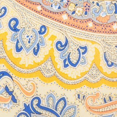 Young Mens Neckties: Yellow Saddlebred Everett Paisley Tie