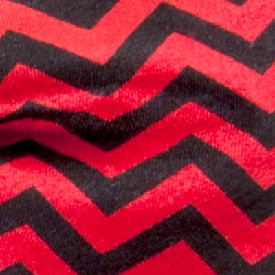 Bow Ties for Young Men: Black/Red Saddlebred College Chevron Stripe Pre-Tied Bow Tie