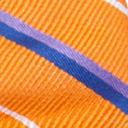 Young Men: Saddlebred Accessories: Orange Saddlebred Pre-Tied Grand Rapids Stripe Bow Tie