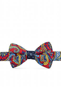 Saddlebred Pre-Tied Zander Paisley Neat Reversible Bow Tie
