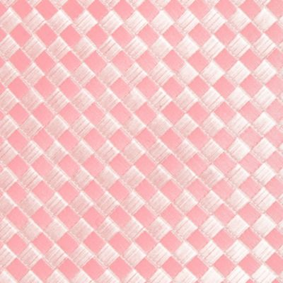 Necktie: Pink Saddlebred Extra Long Derby Basket Weave Tie