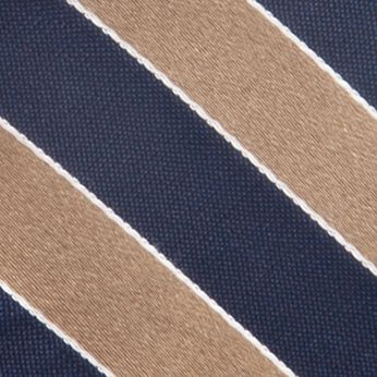 Young Men: Saddlebred Accessories: Taupe Saddlebred Blazer Stripe Tie