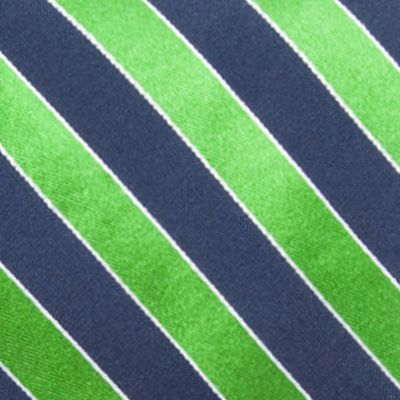 Young Men: Saddlebred Accessories: Green Saddlebred Blazer Stripe Tie