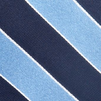 Young Men: Saddlebred Accessories: Blue Saddlebred Blazer Stripe Tie