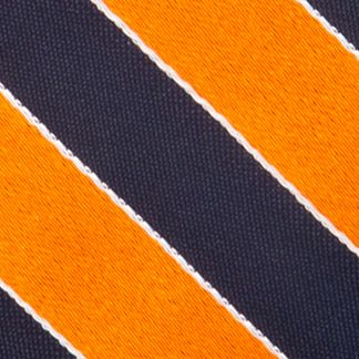 Young Men: Saddlebred Accessories: Orange Saddlebred Blazer Stripe Tie