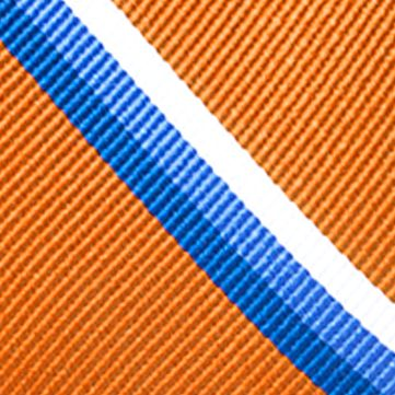 Young Men: Saddlebred Accessories: Orange Saddlebred Texas Bold Stripe Tie