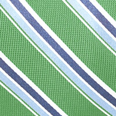 Young Men: Saddlebred Accessories: Green Saddlebred Venice Satin Stripe Tie