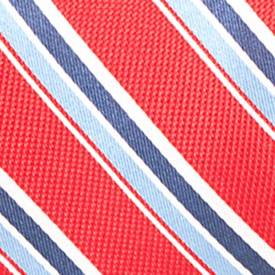 Young Men: Saddlebred Accessories: Red Saddlebred Venice Satin Stripe Tie