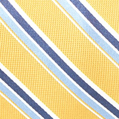 Young Men: Saddlebred Accessories: Yellow Saddlebred Venice Satin Stripe Tie