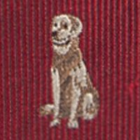 Young Men: Saddlebred Accessories: Red Saddlebred Donovan Dog Tie