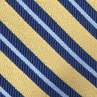 Young Men: Saddlebred Accessories: Yellow Saddlebred® Darby Striped Tie