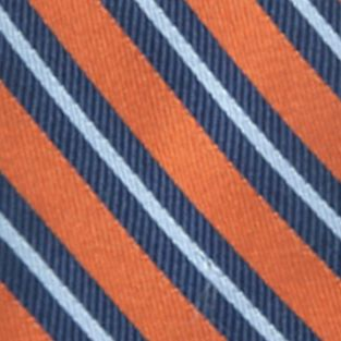 Young Men: Saddlebred Accessories: Orange Saddlebred® Darby Striped Tie