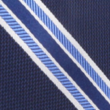 Young Men: Saddlebred Accessories: Navy Saddlebred Danton Stripe Tie