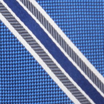 Young Men: Saddlebred Accessories: Blue Saddlebred Danton Stripe Tie