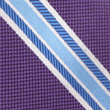Young Men: Saddlebred Accessories: Purple Saddlebred Danton Stripe Tie