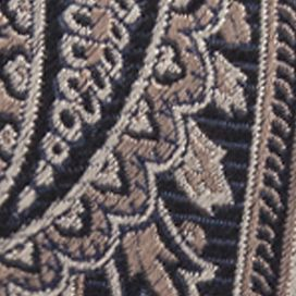 Men: Neckties Sale: Taupe Saddlebred Men's Imbler Paisley Tie
