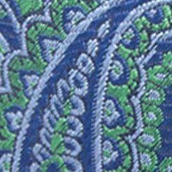 Young Mens Neckties: Green Saddlebred Men's Imbler Paisley Tie