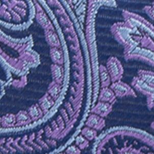 Necktie: Purple Saddlebred Men's Imbler Paisley Tie