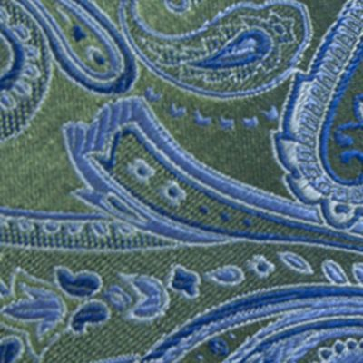 Young Men: Saddlebred Accessories: Green Saddlebred Salford Paisley Tie