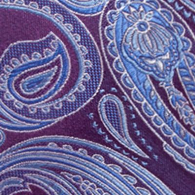Men: Neckties Sale: Eggplant Saddlebred Salford Paisley Tie