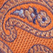 Bow Ties for Men: New Orange Saddlebred Men's Self-Tie Leon Paisley Bow Tie