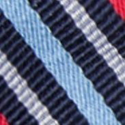 Young Men: Bow Sale: Navy/Red Saddlebred Self-Tie Walter Reversible Stripe and Grid Bow Tie