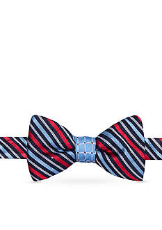 Saddlebred Self-Tie Walter Reversible Stripe and Grid Bow Tie