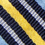 Bow Ties for Men: Navy/Yellow Saddlebred Self-Tie Walter Reversible Stripe and Grid Bow Tie