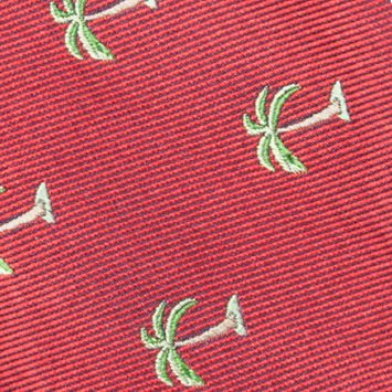 Young Men: Saddlebred Accessories: Red Saddlebred Pre-Tied Shady Palm Tree Bow-Tie