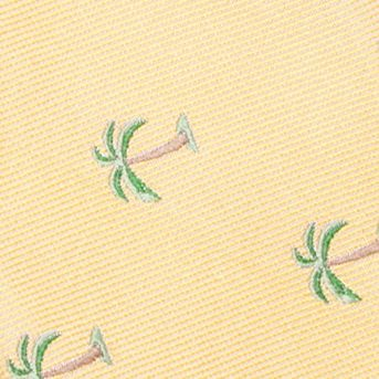 Young Men: Saddlebred Accessories: Yellow Saddlebred Pre-Tied Shady Palm Tree Bow-Tie