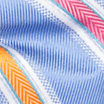 Men: Bow Ties Sale: Medium Blue Saddlebred Pre-Tied Salty Stripe Bow-Tie