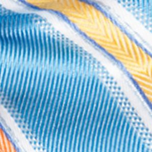 Men: Bow Ties Sale: Aqua Saddlebred Pre-Tied Salty Stripe Bow-Tie