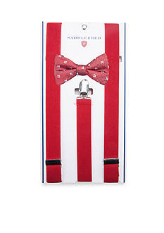Saddlebred Pre-Tied Romper Neat Bow Tie & Suspender Boxed Set